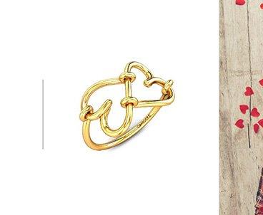 Valentine gold rings for women
